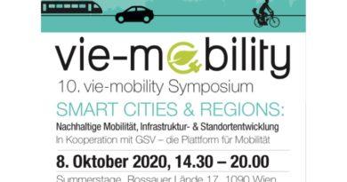 Einladung zur 10.vie-mobility am 8.10.2020